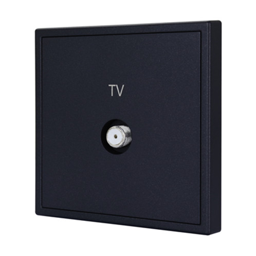 Tile 1 Port Coax Cable TV Wall Plate (BBTV)
