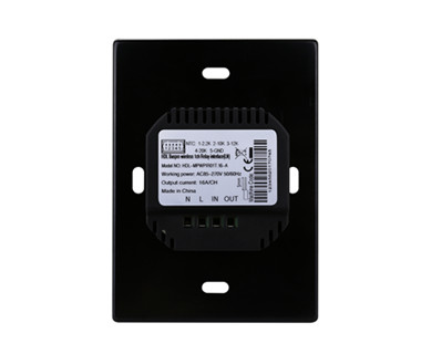 1CH Wireless Switch Power Interface US with Temp. Sensor