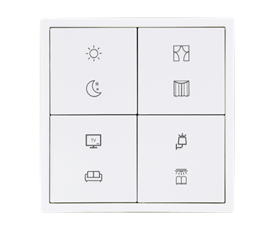 KNX Tile Series 4 Buttons Panel B (Plastic version)